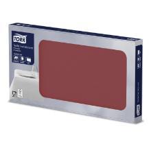 Mitteldecke Wetlaid 80 cm x 80 cm bordeaux 474009 Tork Produktbild