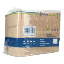 Serviette 33 cm x 33 cm 2-lagig 1/4 Falz braun PrimeSource BeGreen Produktbild