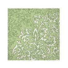 Serviette 33 cm x 33 cm 3-lagig 1/4 Falz Delia grün Produktbild