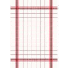 Towel Napkin 38 cm x 54 cm weiß mit roten Streifen Produktbild