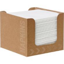 Servietten-Spenderbox Dunisoft 20 cm x 20 cm weiß Produktbild