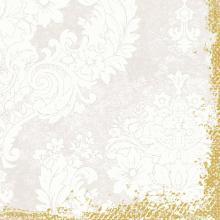 Serviette 40 cm x 40 cm 4-lagig 1/4 Falz Royal white Produktbild