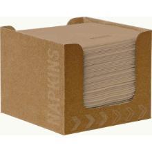 ecoecho Servietten-Spenderbox Dunisoft 20 cm x 20 cm 1/4 Falz braun Produktbild