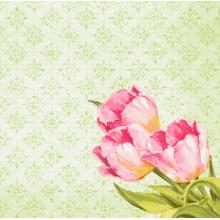 Dunisoft Serviette 40 cm x 40 cm Love Tulips Produktbild