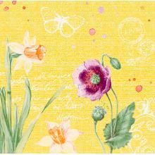 Dunisoft Serviette 40 cm x 40 cm Spring Lillies Produktbild