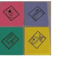 Feuchtwischtuch mit Piktogramm Bad gelb Produktbild
