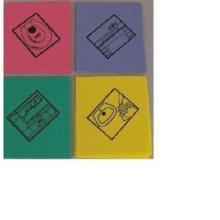 Feuchtwischtuch mit Piktogramm Büro hellblau 35 x 40 cm Produktbild