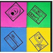 Feuchtwischtuch mit Piktogramm WC rosa Produktbild