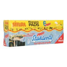 Riesen Pads Stahlwolle verseift PE 1=6St Produktbild