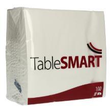 Serviette 33 cm x 33 cm 2-lagig 1/4 Falz weiß TableSMART Produktbild