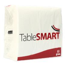 Serviette 33 cm x 33 cm 3-lagig 1/4 Falz weiß TableSMART Produktbild