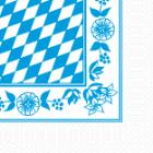 Serviette 33 cm x 33 cm 3-lagig 1/4 Falz Bayern-Raute Produktbild