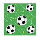 Serviette Zelltuch 33 cm x 33 cm 3-lagig 1/4 Falz Soccer Field Produktbild
