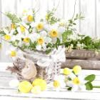 Serviette 33x33cm 3-lagig, 1/4 Falz Blooming Easter Produktbild