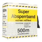 Absperrband schwarz/gelb 80mm/500m PE Produktbild