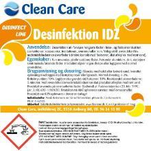 Disinfect Line Desinfektion IDZ 10 ltr. uden farve og parfume minimum 24 dk product photo