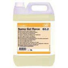 Skumrengøring Suma Gel Force D3.2 2x5 ltr uden farve/parfume blomstmærket gul product photo