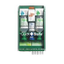 Sikkerhedsskab QuickSafe Complete m/øjenskyller brandgel plastre kompres sårrens product photo