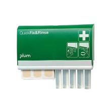 Plum Quick Fix & Rinse væghængt dispenser 45 stk. plastre og 5x20 ml øjenskyl product photo