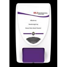 Dispenser manuel Deb Cleanse Heavy til 2 ltr hvid med lilla trykknap product photo