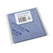 Microfiber skærmklud blå 20x20 cm brilleklud product photo