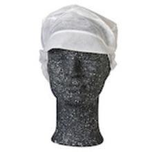 Hygiejnehat Snood cap med skygge og hårpose hvid str. M product photo