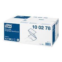 Håndklædeark Tork Extra soft hvid singlefold premium 2 lag H3 22.6x23x11.5cm product photo