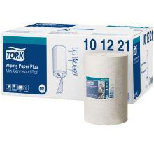 Håndklæderulle Tork Plus M1 hvid 2 lag hvid 75 m. 21.5 cm bred. product photo