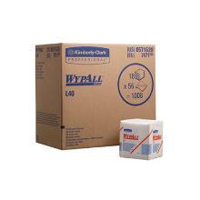 Aftørringsklud Wypall L40. 1 lag hvid 33x31.5 cm. product photo