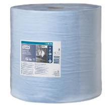 Aftørringsrulle Tork Ekstra Kraft industri 3 lag blå 255m 750 ark 36.9 bred. Ø39 product photo