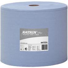 Aftørringsrulle Katrin Plus industrirulle 2 lag blå 350 m. 930 ark 26 cm bred product photo