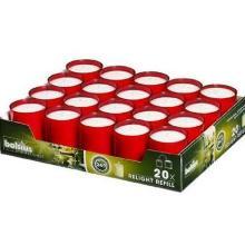 Refill til glaslys rød 20 stk product photo