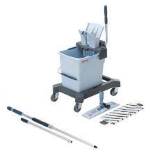 Vogn rengøring Ultra Speed Pro starter kit spand 25 l presse fremføre mop skaft product photo