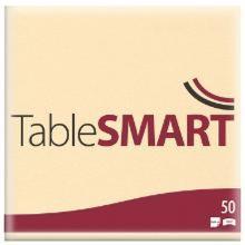 Serviet TableSMART airlaid 40x40 cm 1/4 fold Buttermilk product photo