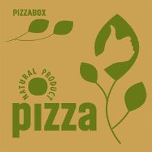 Pizzaæske 32x32x3 cm med logo Natural Brun product photo