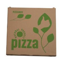 Pizzaæske 26x26x3 cm TWK med logo Natural Brun product photo