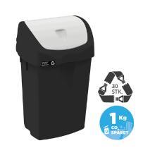 Affaldsbeholder Nordic Recycle 25 ltr Sort Hvid vippelåg product photo