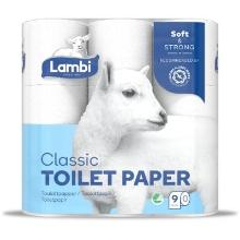 Toiletpapir Lambi 3-lag 19.38 m Hvid product photo