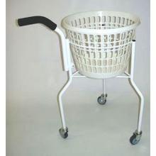 Vaskerivogn rund med håndtag 3-hjul Hvid kurv H80 cm product photo