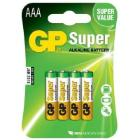 Batteri GP Super AAA 4-pak product photo