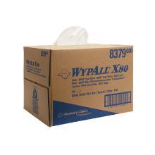 Wypall X80-8379 chiffon non-t blanc - 160pc - 1pl - 31x42cm - Boîte Pop-up photo du produit