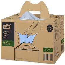Tork Premium Cloth 530 non-t bleu - 200pc - Pliage zz - 1pl - 43x38cm - W7 photo du produit