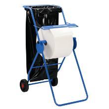 KC dispenser maxi-roll mobile bleu acier - 109x50x74cm - Avec support sacs photo du produit
