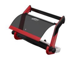 Dispenser Tork Maxi à dévidage central rouge/noir - 65x27x47cm - W1 photo du produit