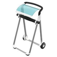 Dispenser sur pied Tork blanc/turquoise - 65x53x100cm - W1 photo du produit