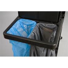 DOUBLE SUPPORT métal interieur pour sac poubelle Pour chariot Rubbermaid ( photo du produit