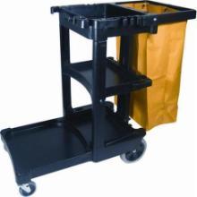 Rubbermaid : chariot ménage - noir - 2 roues fixes - 2 roues pivotantes photo du produit