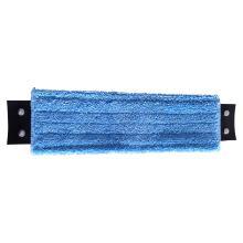 Mop microfibre : languettes à boutons pression - bleu - 49 x 15cm photo du produit