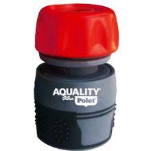 Aquality : raccord pour tuyau d'arrosage - 3/4' - pvc et caoutchouc photo du produit