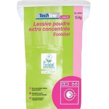 Techline : lessive en poudre - tous types de linge - 15kg photo du produit